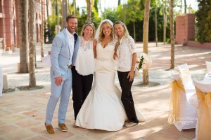 The happy couple with Marbella Wedding Angels