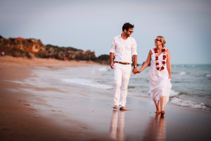 Birthe & Phillip conil beach wedding