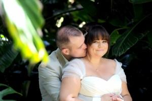 Abi & Nigel after wedding ceremony Gibraltar