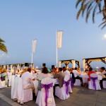 La Cabane Beach Club wedding reception