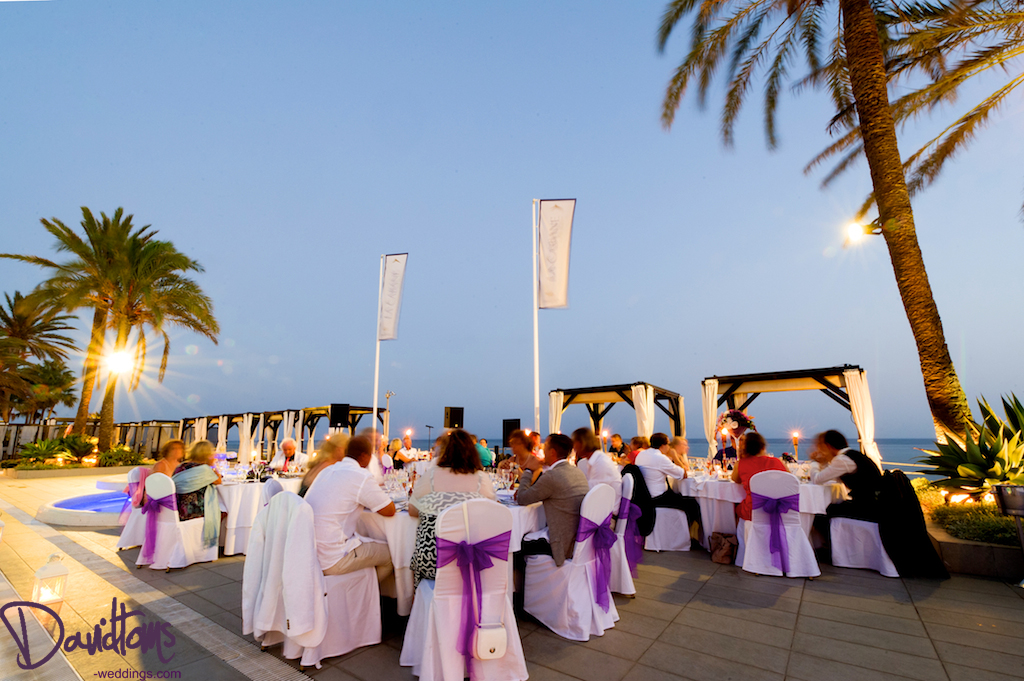 La Cabane Beach Club wedding reception