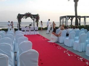 La Cabane evening wedding reception set up