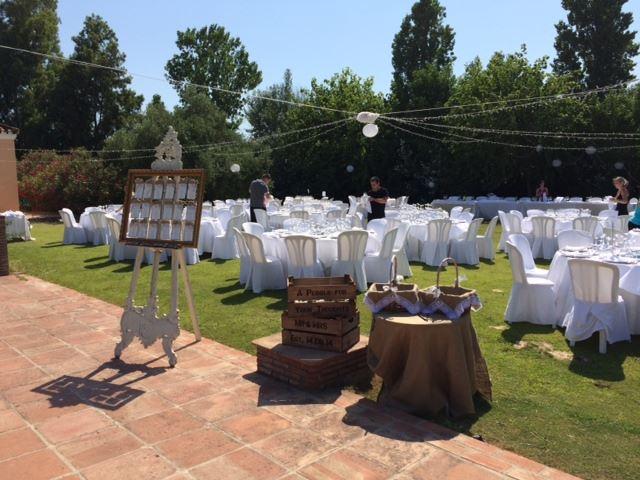 Monasterio wedding set up garden