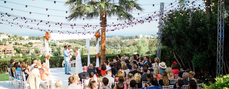 Spring wedding in private villa – Marbella