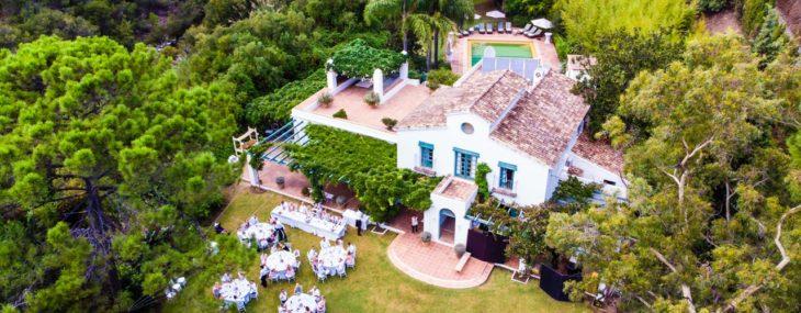 Wunderschöne Villa Garten Hochzeit