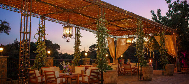 pergola-with-fairy-lights-at-sunset